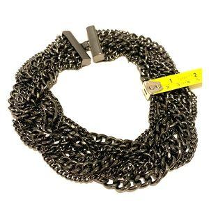 Express Multi-strand Braid Statement Necklace